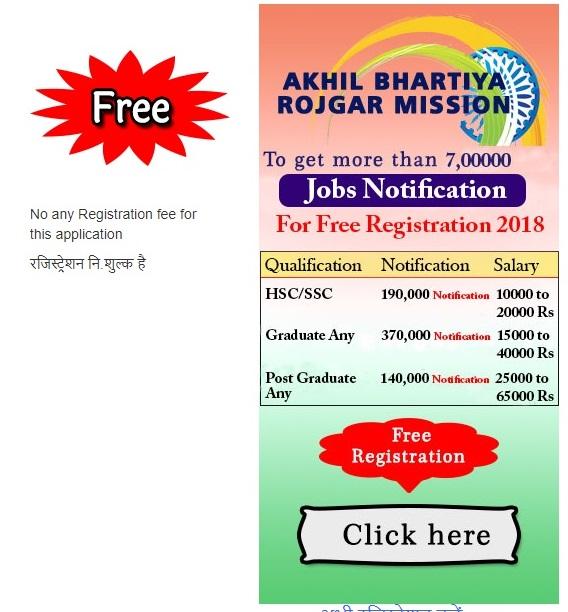 Akhil bhartiya rojgar mission 2018 (ABHRM) भर्ती पोस्ट 700000 Online Apply
