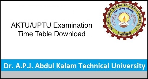 AKTU Date Sheet 2019 Odd Sem, AKTU/UPTU BE/B.Tech 1st 3rd 5th 7th SEM Exam Scheme/time table 2018-2019 PDF
