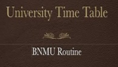 BNMU Exam Routine 2019, BNMU Madhepura BA BSc BCom Part 1, 2, 3 Time Table 2019 Pdf
