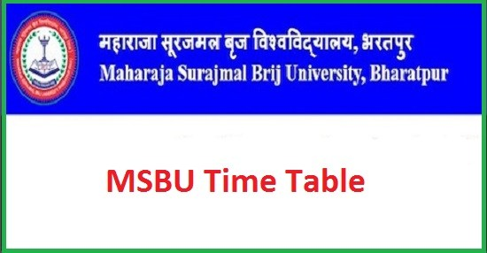 Brij University Time Table 2019 – MSBU UG PG 1st 2nd 3rd year Date sheet @brijuniversity.ac.in