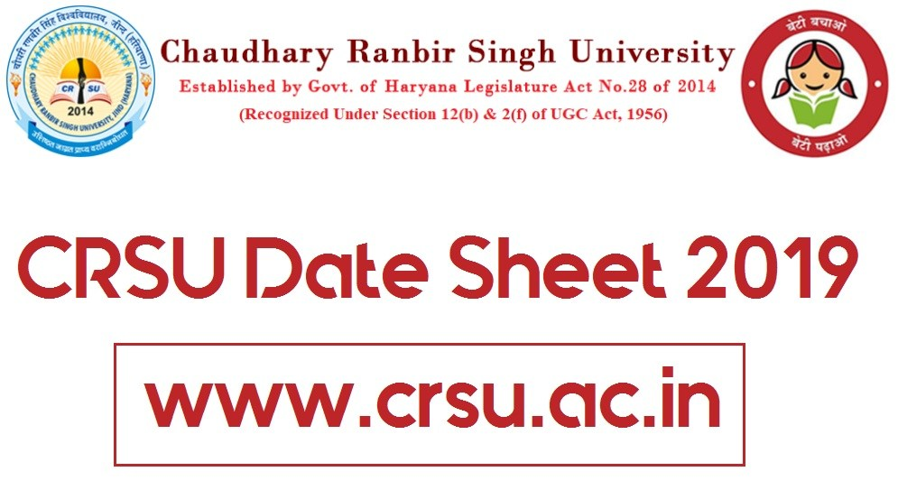 CRSU Date Sheet 2019 BA/B.Sc/B.Com/MA/M.Com (1st & 3rd Sem) Time Table