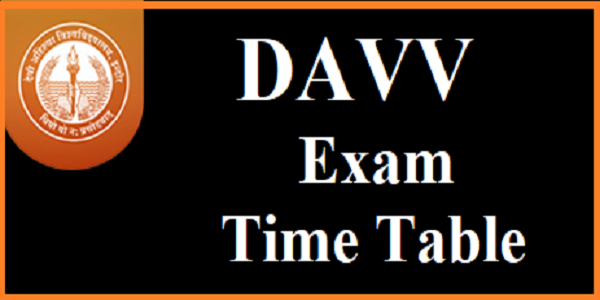 DAVV Indore Time Table 2019, DAVV Exam Time Table 2019, BA B.Sc B.Com B.Ed