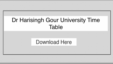 Dr Harisingh Gour University Time Table 2019, DHSGSU Sagar BA BSC BCOM Exam Date Sheet/Schedule 2019