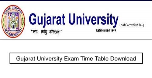 Gujarat University Time Table 2019 – BA, BSc, BCom (2nd 4th 6th Sem) Exam Date Sheet
