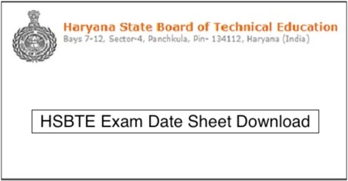 HSBTE Diploma Date Sheet 2019 Download HSBTE Date Sheet PDF