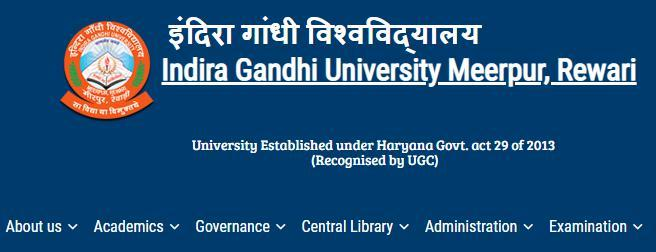 IGU Meerpur Date Sheet 2019, {www.igu.ac.in Exam Date} BA/BSC/BCOM/B.Ed Routine/Exam Time Table Download