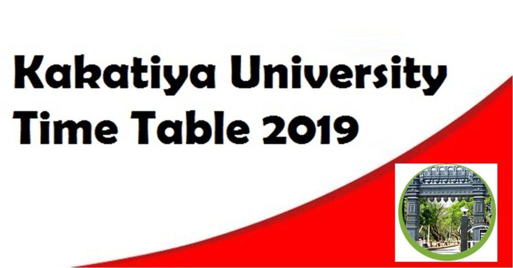 Kakatiya University Time Table 2019
