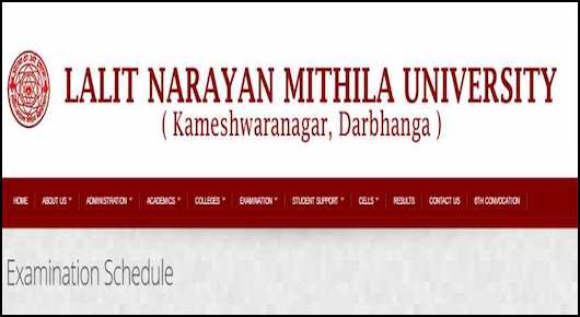LNMU Exam Routine 2019 Mithila University BA BSc BCom Schedule