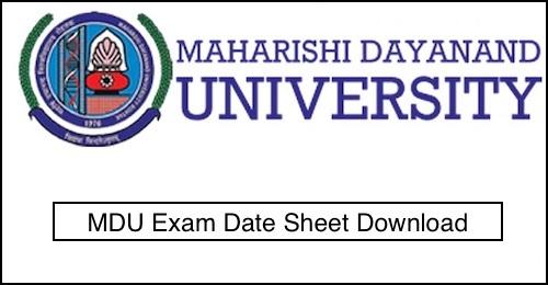MDU Rohtak Date Sheet 2019 | MDU DDE Reappear BA BSC BCOM 1st 2nd 3rd Year Exam Date 2019