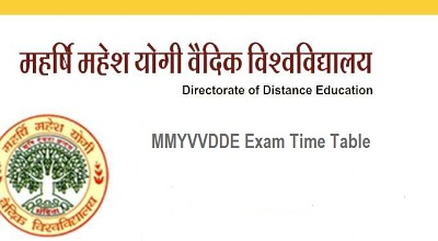 MMYVV Time Table 2019  DCA/ BCA/ MSW/ PGDCA/ BA/ B.com Date sheet
