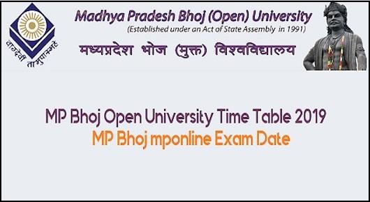 MP Bhoj Time Table 2019 – Bhoj University Term End Exam Time table