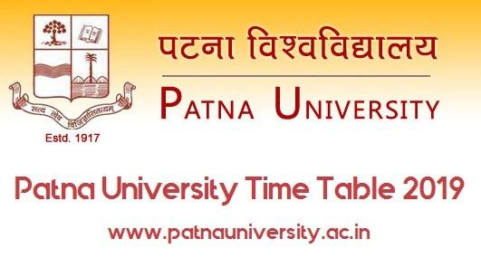 Patna University Exam Date 2019 B.A, B.Sc, B.Com, LL.B, B.Ed Exam