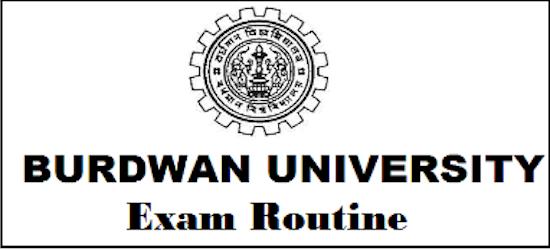 burdwan university routine