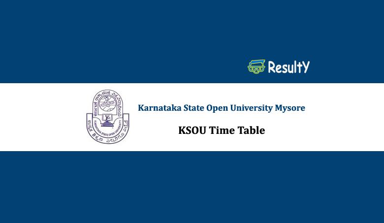 KSOU Time Table 2019 PDF, Download ksoumysore.edu.in Exam Date Sheet 2019