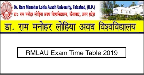 RMLAU Time Table 2019 | Avadh University BA BSc BCom MA MSc MCom Exam Scheme