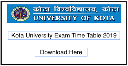 UOK Time Table 2019 Kota university BA BSc BCom Exam Date Sheet Download