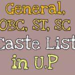 uttar pradesh obc caste list