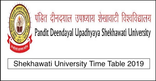 Shekhawati University Time Table 2019 PDUSU UG & PG Exam Date Sheet