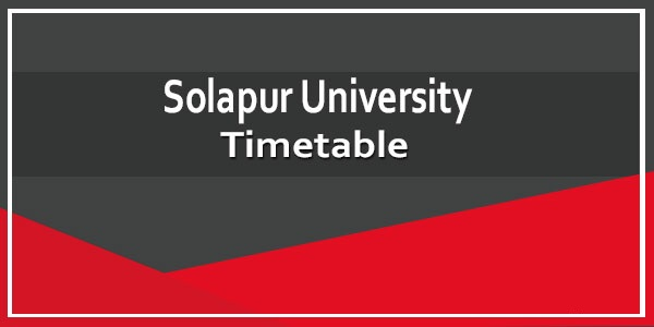 Solapur university exam time table 2020 BA B.Sc B.Com MA MCA PGDCA Exam