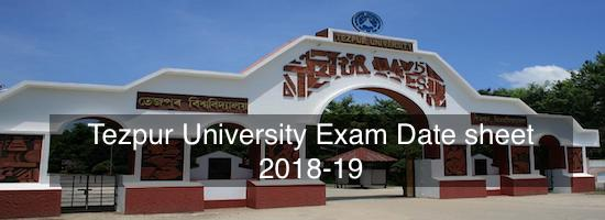 Tezpur university entrance exam date 2020 – Dates, Eligibility, Application Form, Pattern, Syllabus
