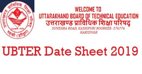 UBTER Polytechnic Date Sheet 2020 Summer Uttarakhand Polytechnic 2nd, 4th, 6th Exam Schedule