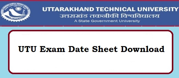 UTU Exam Date Sheet