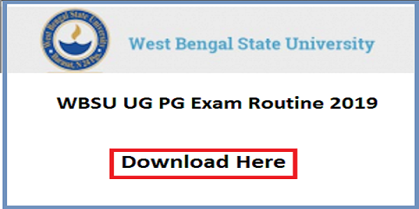 WBSU Routine 2020 PDF, West Bengal State University Examination Routine Part 1, 2, 3