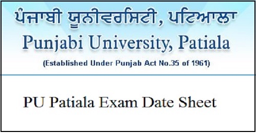 Punjabi University Patiala Date Sheet 2019 PUP BA BSC BCOM Time Table 2019