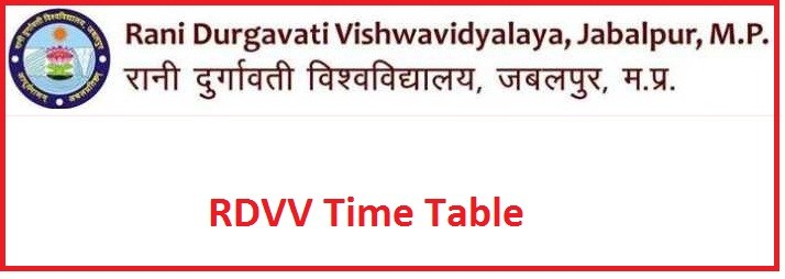 Rdvv Jabalpur time table 2019 | BA BSc BCom MA MSc Exam Date Sheet